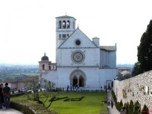 Assisi, veduta della chiesa