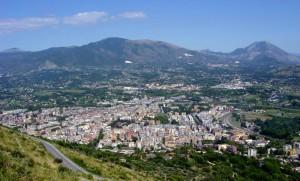 Panorama di Cassino da Montecassino