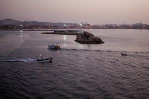 Porto Torres ripresa dalla nave