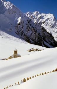 Paesaggio invernale in Val di Rezzalo