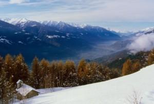 Panorama della valle da Dalico