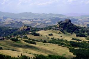 Panorama dalla rupe di Canossa