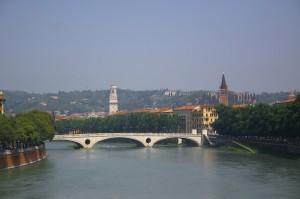 passando sui ponti dell'Adige