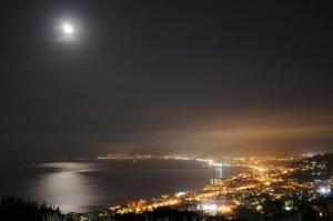 la costa di notte