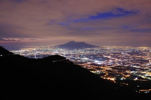 Corbara - Vista sul Vesuvio by Night