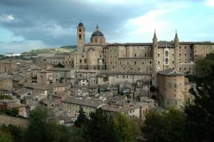 Temporale su Palazzo Ducale ad Urbino