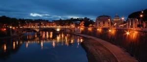 Roma - Veduta dal ponte dell'Angelo