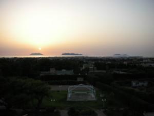 Panorama da Contrada Rakalia al tramonto