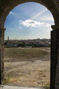 Panoramica di Solarussa, dall'arco della vecchia chiesa.