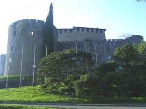 tramonto al castello