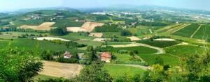 Panorama dalla frazione sant'Anna di Costigliole d'Asti