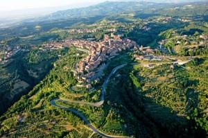 Veduta aerea dell'altipiano dove si adagia Città della Pieve