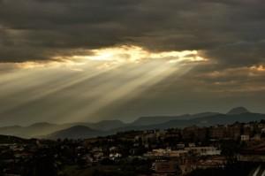 Panorama sul Monte San Vicino