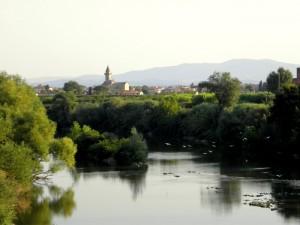 Casciavola - Vista dal Fiume Arno