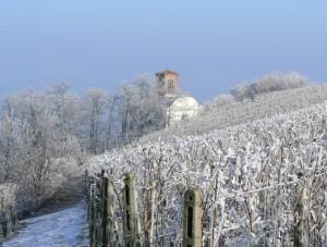 Alice Bel Colle Santuario La Fraschetta sotto la neve