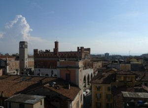 Piacenza dall'alto, lato sud