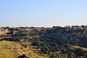 Panorama di Lubriano da Civita di Bagnoregio (VT)
