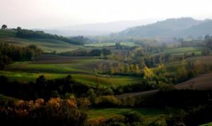 Uno sguardo sulla campagna intorno a San Giovanni d'Asso