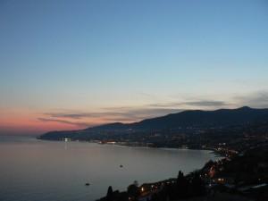 I colori di San Remo la sera