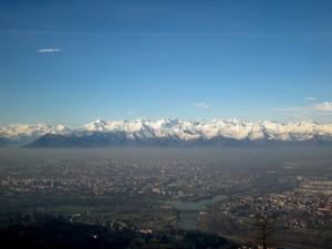 panorama di Torino da Superga