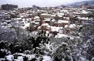 Neve su Villa di Chiesa
