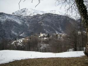 Serre d'Angrogna, Val Pellice, in inverno