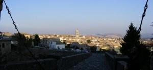 Panorama di Melfi dal castello