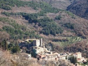 Panorama di Arsoli con il suo castello