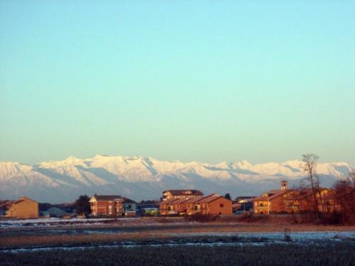 Carmagnola - La pianura e le montagne
