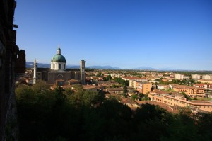 Montichiari , paesaggio dal castello