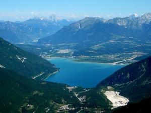 Il lago di S.Croce visto dai 1600