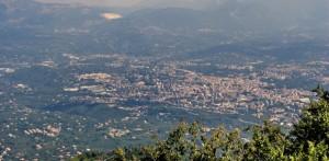 Panorama di Avellino da Montevergine
