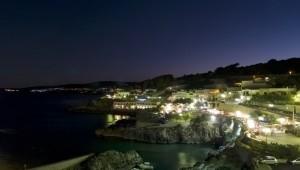 Panorama notturno Castro Marina