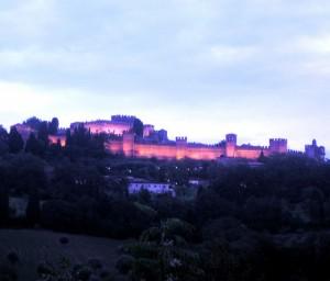 Gradara Castello illuminato