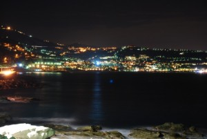 Bordighera by night