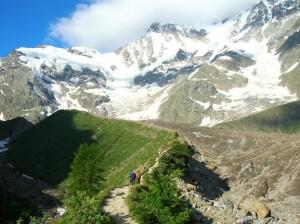 4 passi sul ghiacciaio