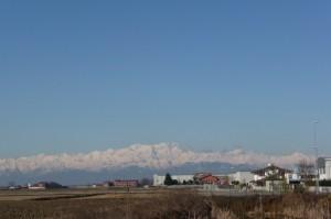 Caresanablot in una fredda mattinata di febbraio