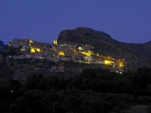 Castelcivita - Castelluccia nel crepuscolo