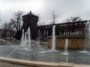 Castello Sforzesco con fontana