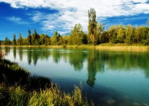 fiume mincio veduta panoramica