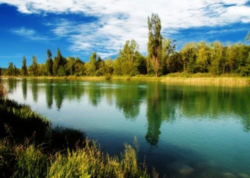 Peschiera del Garda - fiume mincio veduta panoramica
