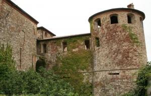 Particolare del rivellino e di una torre della Rocca