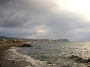 …dalla spiaggia