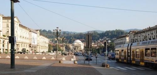Torino - Gran Madre e colline viste da P.za V. Veneto