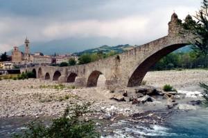 Bobbio vista dal Ponte Gobbo