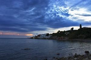 L'occhio del tramonto vigila su Santa Marinella