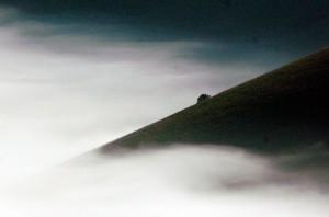 nebbia sul Piano Grande