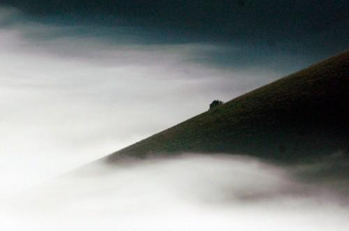 Norcia - nebbia sul Piano Grande