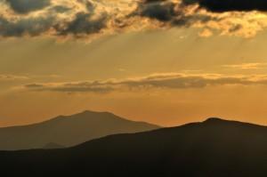 tramonto toscano visto dall'Umbria