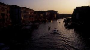 Venezia, il canal Grande al tramonto